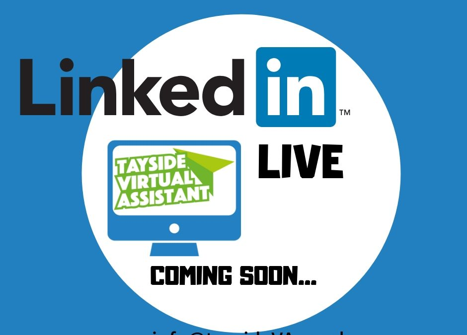 LinkedIn Live – Coming Soon….